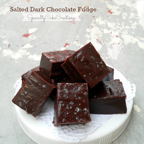 Salted Dark Chocolate Fudge