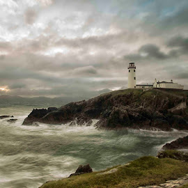Fanad Lighthouse  by Helen Quinn - Landscapes Waterscapes ( water, ireland, fanad, lighthouse, sea, donegal )