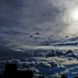 Cloud and sun by Debasish Sengupta - Landscapes Cloud Formations ( clouds, sky, photograph, photo, sun, photography,  )