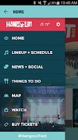 Screenshot of Hangout Festival
