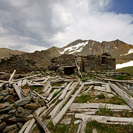Silver Pick Mining Cabin & Wilson Peak by Justin Giffin - Buildings & Architecture Decaying & Abandoned ( cabin, mountains, colorado, buildings, mine, 14ers, abandoned )