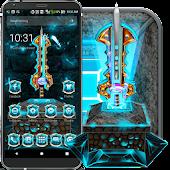 3D War Sword Theme APK for Bluestacks