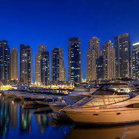 Dubai Marina by Andrew Madali - Landscapes Waterscapes