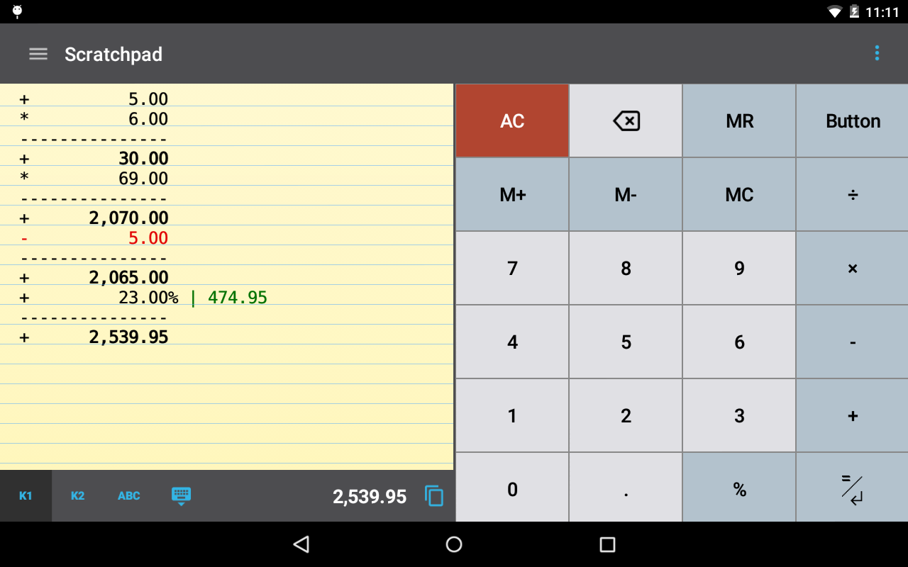 CalcTape Calculator with Tape Screenshot 11