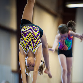 Beam Duo by Elvis Dorencec - Babies & Children Children Candids ( gymastics, beam )