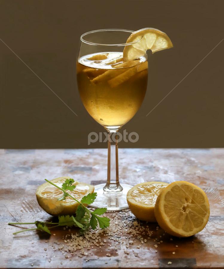 Cheers ..... Happy Father's Day by Tin Tin Abad - Food & Drink Alcohol & Drinks ( wine glass, lemon, salt, cilantro, soda, wine )