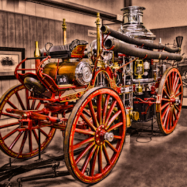 Old Fire Steamer by Tom Anderson - Transportation Other ( firefighter, fireman, arizona, fire depa, phoenix, hall of flame )