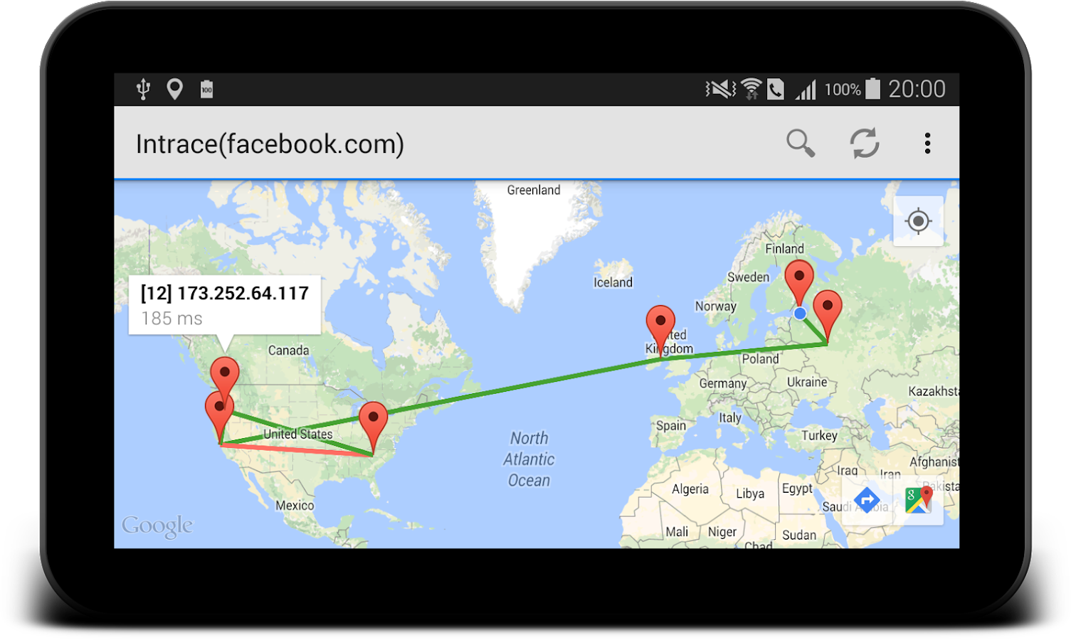 Intrace: Visual Traceroute Screenshot 4