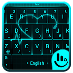 Live Neon Heart Keyboard Theme Icon