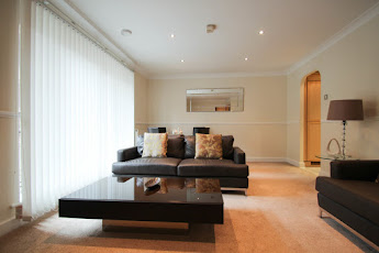 living area at city of london apartments