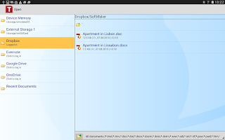 Screenshot of FREE Office: TextMaker Mobile