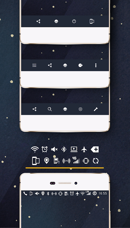 Space cm13 cm12 theme engine Screenshot 7