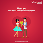 Marriage is the beginning of a new chapter of life with someone you're meant to write a dream tale with. Register with VivahCreations and find your match