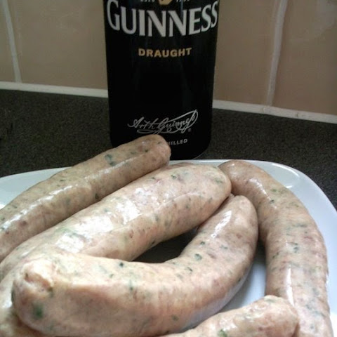 Sausage and Guinness Casserole with Mustard Mash