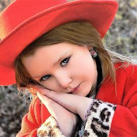 Holiday Hat by Cheryl Korotky - Babies & Children Child Portraits