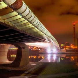 Troy bridge, Prague by Michal Fokt - Buildings & Architecture Bridges & Suspended Structures ( night, bridge, prague )