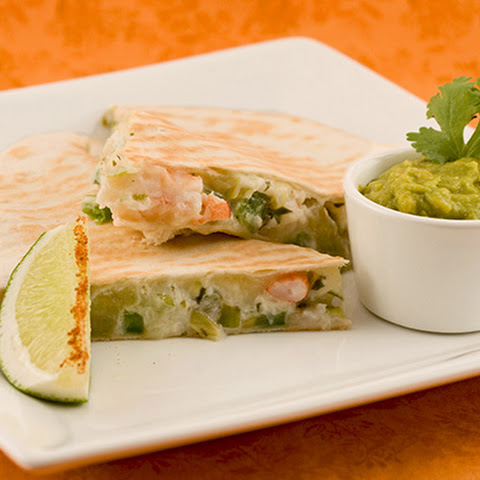 Spicy Shrimp and Lime Quesadillas
