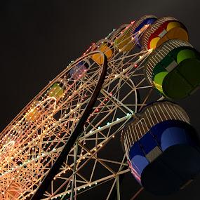 Lunapark Sydney by Richard Heersmink - City,  Street & Park  Amusement Parks ( colors, night, lunapark sydney, fun )