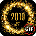 Happy New Year GIF 2019 Icon