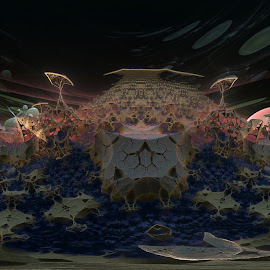 Chaos In The Distance by Rick Eskridge - Illustration Sci Fi & Fantasy ( fantasy, jwildfire, mb3d, fractal, twisted brush )