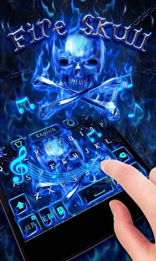 FireSkull GO Keyboard Theme screenshot 3