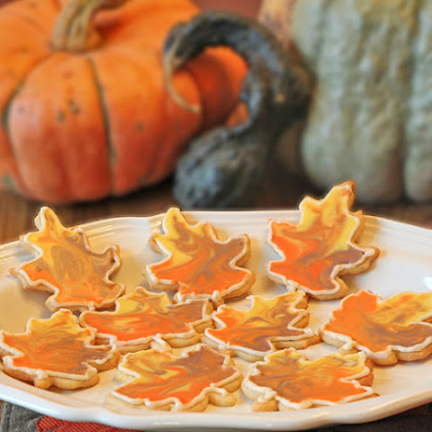 Frosted Fall Sugar Cookies