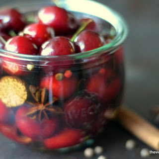 Holiday Spiced Cocktail Cherries