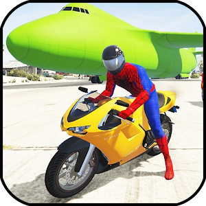 Do 🚩 Bike Stunts with Superheroes. Stunt with thrilling missions APK Icon
