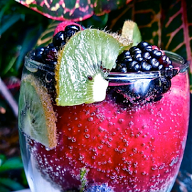 { fruits in a glass ~ under the tree ~ 1 Aug } by Jeffrey Lee - Food & Drink Fruits & Vegetables ( { fruits in a glass ~ under the tree ~ 1 aug } )