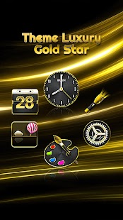 How to mod Theme Luxury Gold Star 1.1.1 apk for bluestacks