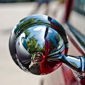 Austin Indeed by Tempo Cativo Paulo Borges - Artistic Objects Other Objects ( retrovisor, car, austin, carro, reflexos, espelho, photography, mini )