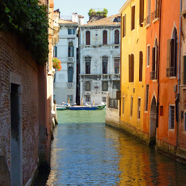 Laguna Fortuna by Adrian  Ploshko - Buildings & Architecture Decaying & Abandoned ( travel photography, beautiful, venice, vibrant, warm, reflection, bright, sunny, water, italy, architecture, picturesque,  )
