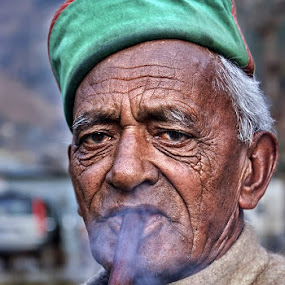 Have a Puff..!! by Veeresh Pathania - People Portraits of Men ( hukka, man )