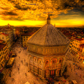 THE BAPTISTRY OF ST JOHN by CLINT HUDSON - City,  Street & Park  Vistas ( florence, italy )