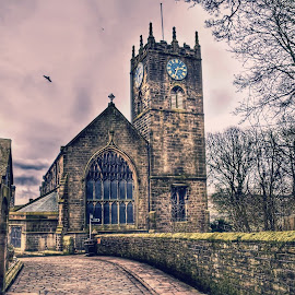 hawrth church by Betty Taylor - Buildings & Architecture Places of Worship ( hdr, church, pathway, bricks, architecture )