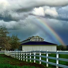 Rainbow at River Run Ranch by JR Hudson | Scenic Edge - Landscapes Prairies, Meadows & Fields ( ranch, scenic edge, river run ranch, carnation, landscape, spring, rainbow, photography )