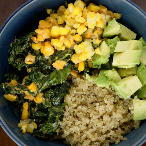 COOKING QUINOA – KALE AND COCONUT MILK ADDED