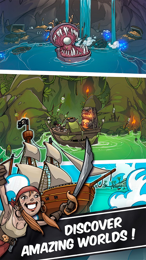 Clicker Pirates - Tap to fight Screenshot 14