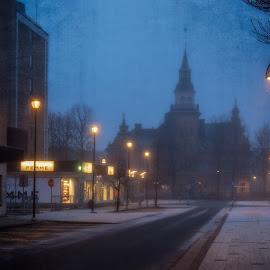by Bojan Bilas - City,  Street & Park  Night ( urban, europe, color, beautiful, fine art, suomi, finland, long exposure, travel, architecture, rauma, city )