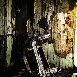 The Chair by Sylvia Meier - Artistic Objects Furniture ( chair, rotten, still life, artistic, decayed, forgotten )
