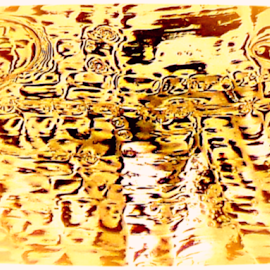 Abstract from Bubble Freeze Attempt by Cheryl Beaudoin - Abstract Macro ( attempt, abstract, macro, freeze, bubbles, brown, gold, black )