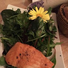 Lachs auf Wildkräutersalat by Marianne Fischer - Food & Drink Plated Food