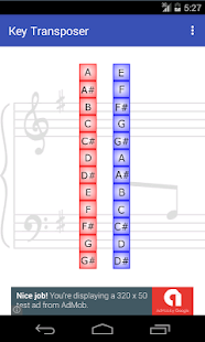 Key Transposer - screenshot