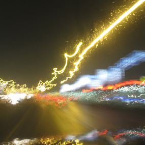 Chaos by Nikki Prickett - Abstract Light Painting ( abstract, chaos, light painting, color, electric )