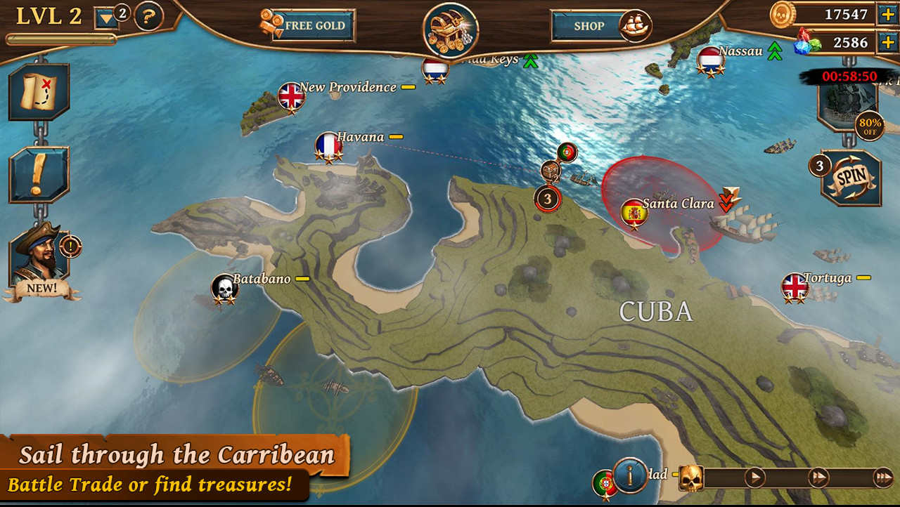 Ships of Battle: Age of Pirates Screenshot