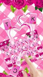 Pink Roses Keyboard Theme