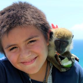 Monkey by Bill Bettilyon - Babies & Children Children Candids ( children, monkey )