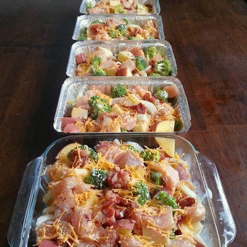 Chicken, Broccoli, Bacon & Potato Bake
