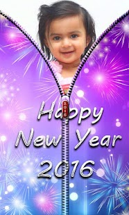 New Year Zipper Lock Screen - screenshot