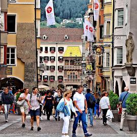 Innsbruck by Francis Xavier Camilleri - City,  Street & Park  Street Scenes